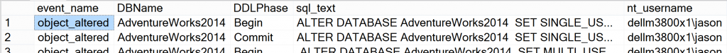 DB Change Data