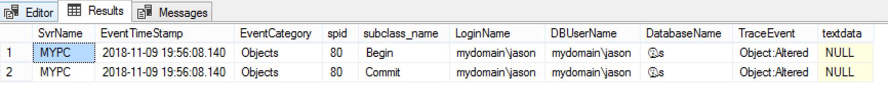 Audit Database Offline Events | SQL RNNR